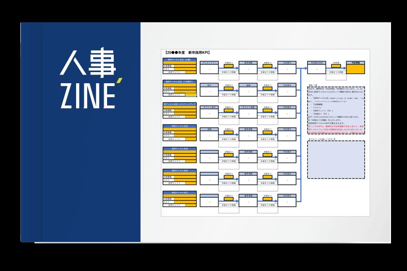 【サンプル】採用活動のKPIシート(記入例付き)